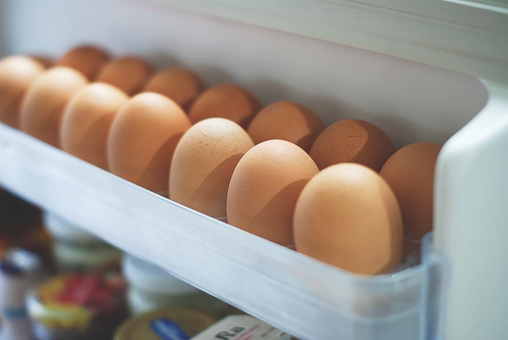Eggs in the fridge