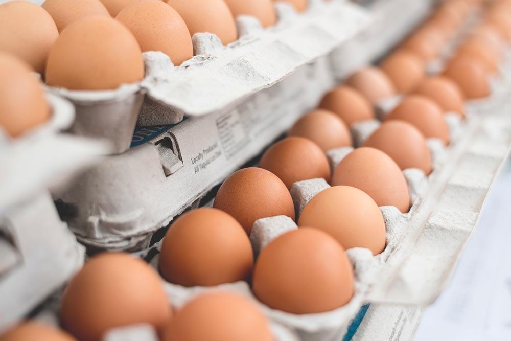 Eggs stored in a cupboard